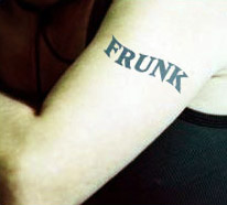 arm tattoo says Frunk